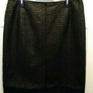 Tribal stretch pencil skirt black Croc embossed